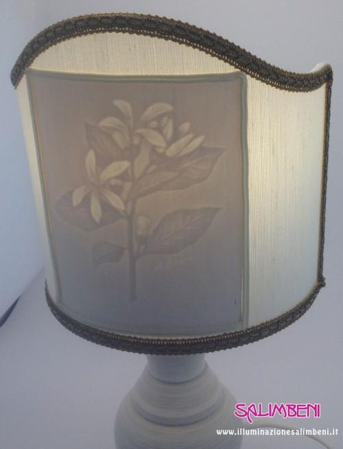 lampada filigrana fabriano soggetto floreale